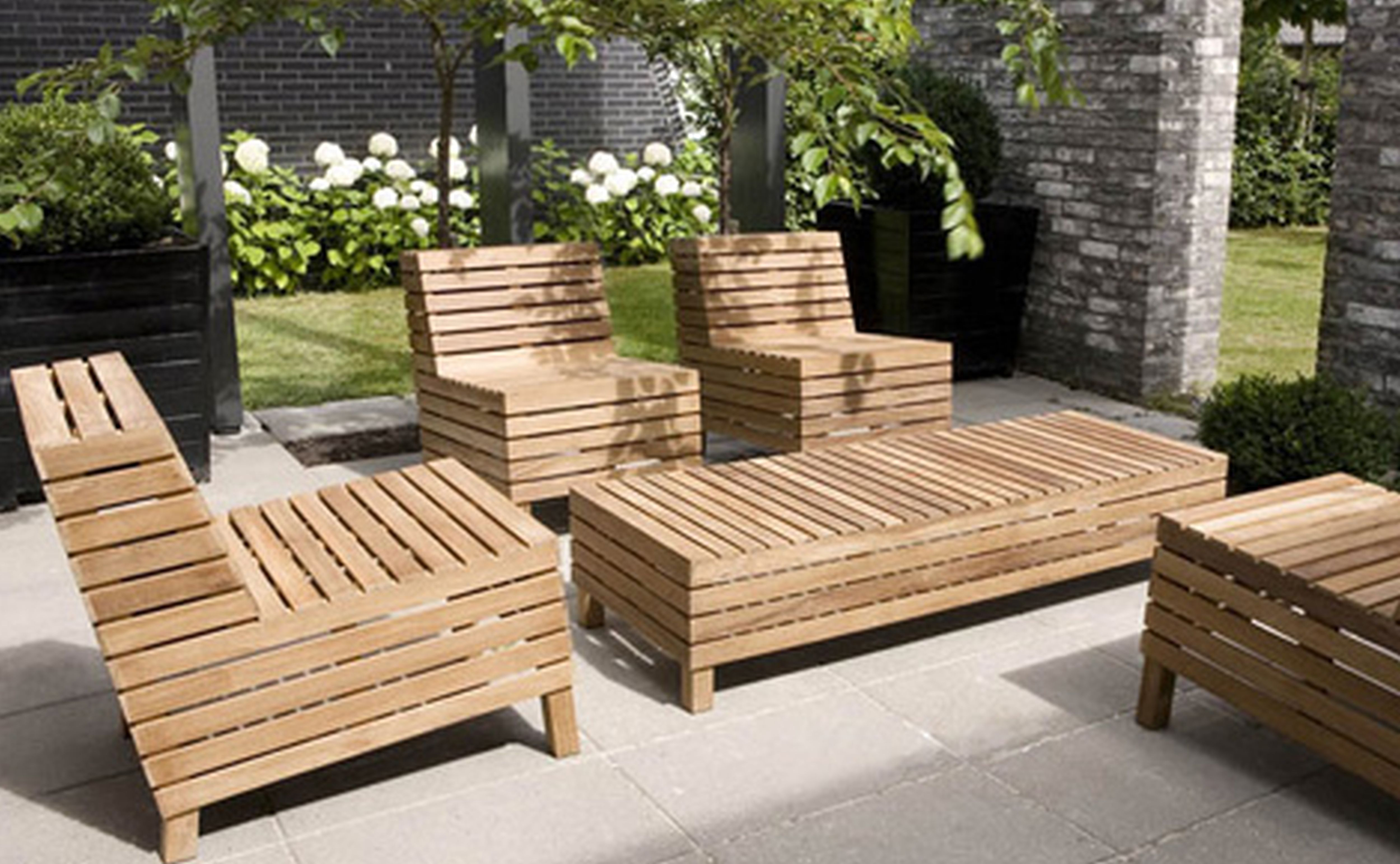Images of Furniture Furniture Fascinating Patio Design Natural Brown Finishing  Striped Solid Oak Wooden solid wood outdoor furniture