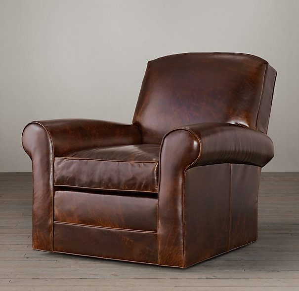 Images of Lowell Leather Club Swivel Chair swivel leather armchair