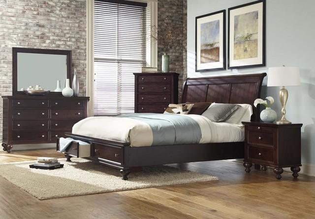 Images of Merlot King Size bedroom Set with Storage transitional-bedroom-furniture- sets king size bedroom set with storage