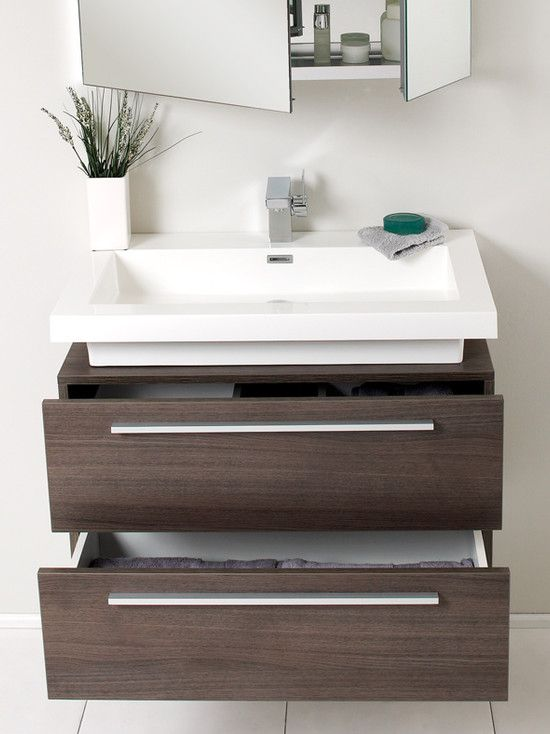 Images of Perfect for my bathroom! Want a floating vanity with basin on top and small floating bathroom vanity