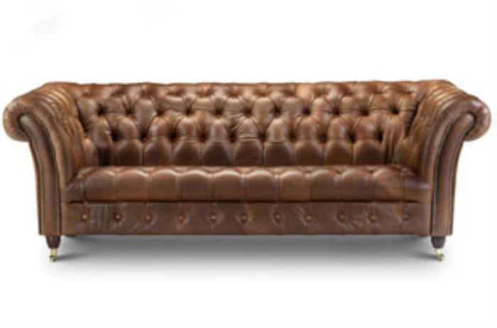 Images of Picture of Bretby 3 Seater Leather Sofa ... 3 seater leather sofa