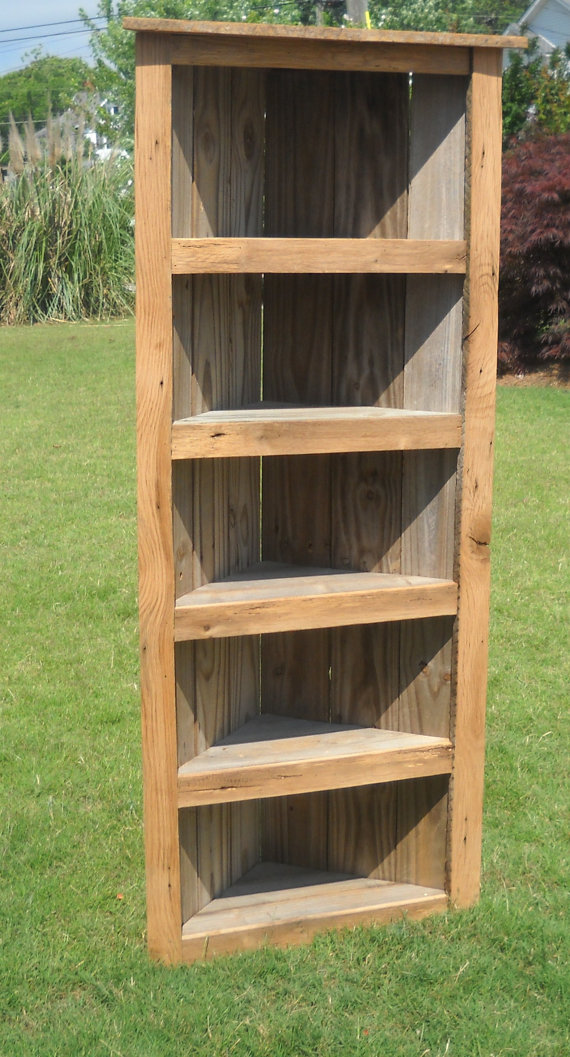Images of Rustic Bookcase, reclaimed wood Corner Bookcase, Corner Bookcase, Rustic  Bookcase wood corner bookcase
