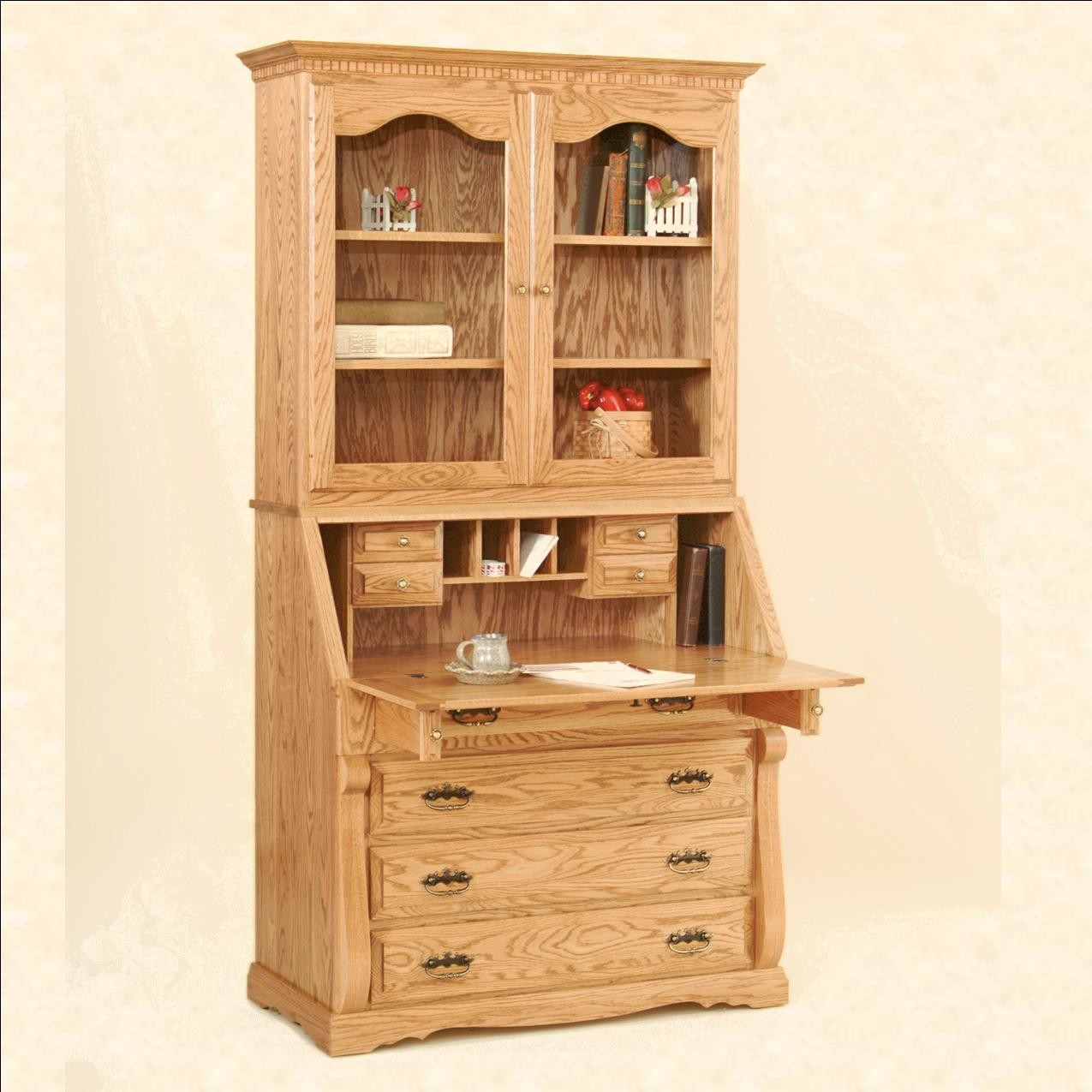 Images of Traditional Secretary Desk with Hutch secretary desk with hutch