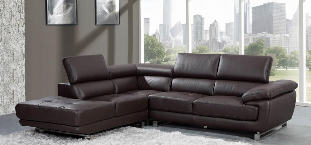 Images of Valencia Corner Espresso Brown H8586LHF corner leather sofa