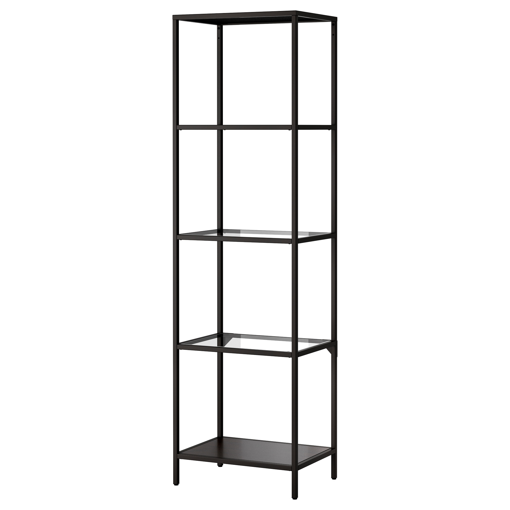 Images of VITTSJÖ Shelf unit - black-brown/glass - IKEA glass shelving unit