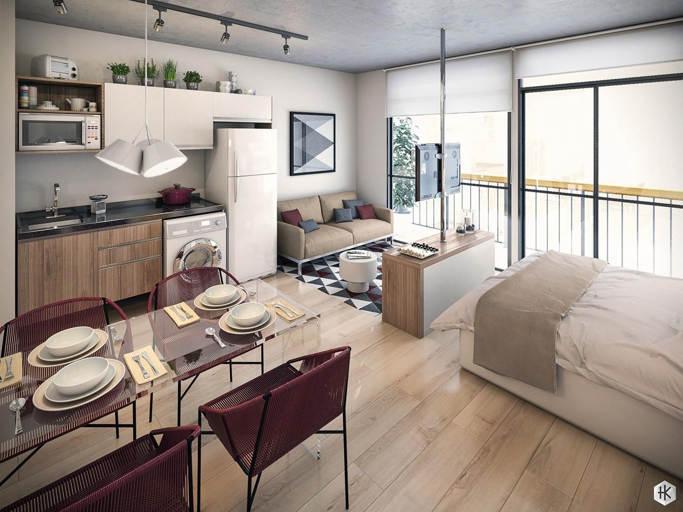 Cute 36 Creative Studio Apartment Design Ideas interior design studio apartment