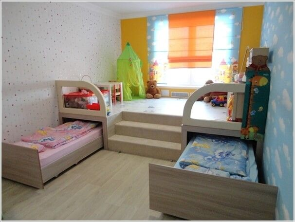 Easy tip to decorate kids rooms for Bedroom designs for very small rooms
