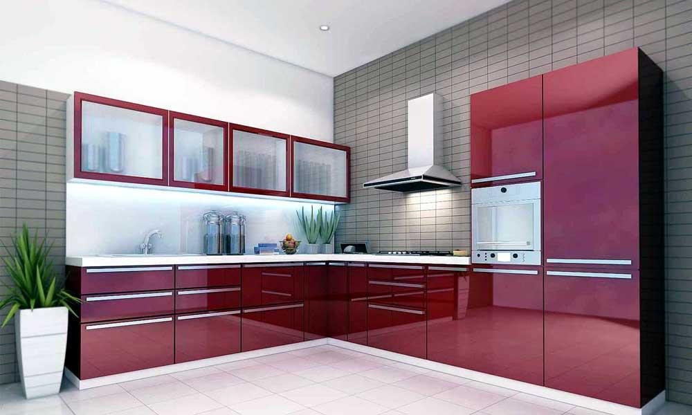 Stylish Kitchen Designs ... l shaped modular kitchen designs for small kitchens