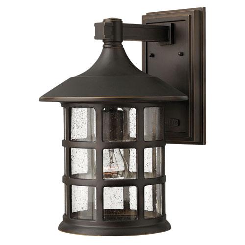 Elegant Freeport Oil Rubbed Bronze One-Light Large Outdoor Wall Light large outdoor light fixtures
