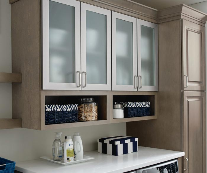 Images of ... Laundry room storage cabinets with aluminum frame doors and frosted  glass laundry room storage cabinets