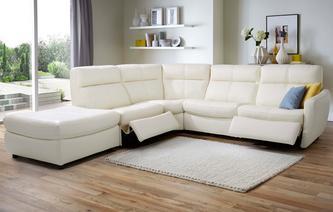 Elegant multibuysaving Marriott Option F Right Arm Facing Electric Recliner Corner  Sofa New leather corner recliner sofa