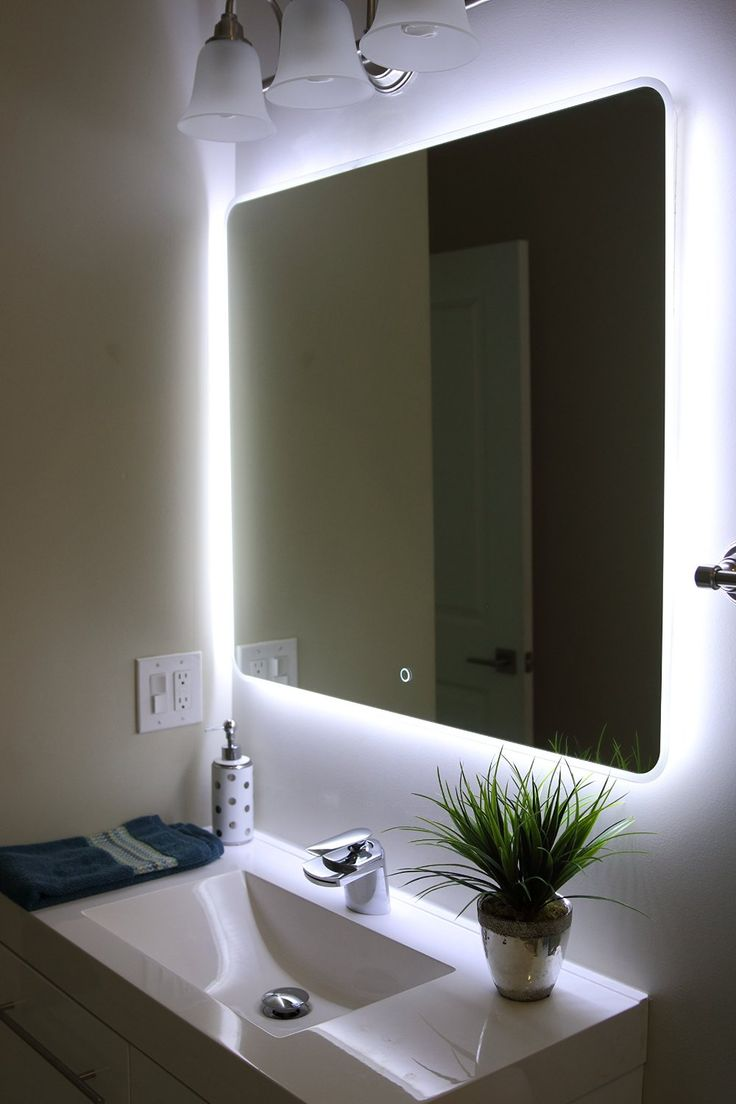 Amazing Windbay Backlit Led Light Bathroom Vanity Sink Mirror. Illuminated Mirroru2026  http:// led lights for bathroom mirror