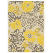 Luxury Askins Hand-Woven Grey/Yellow Area Rug mustard yellow area rug