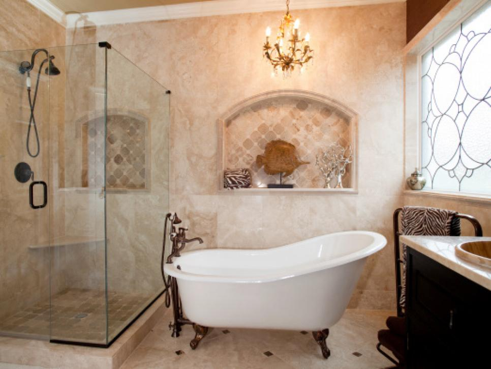 Luxury Budget Bathroom Remodels | HGTV bathroom renovation ideas on a budget