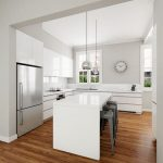 Create a comfortable space with modern kitchen