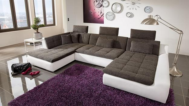 Luxury Contemporary living room furniture, modular sofa in black and white modern sofas for living room
