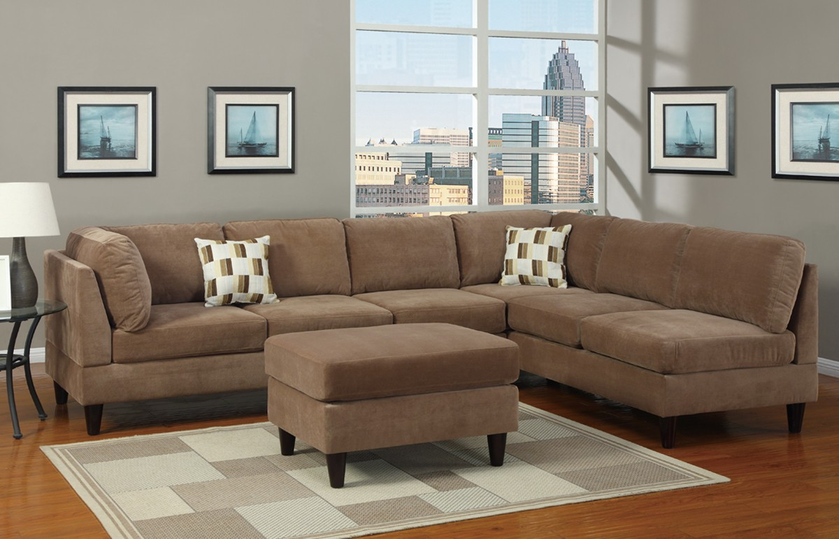 Simple And Easy To Maintain Microfiber Sofa