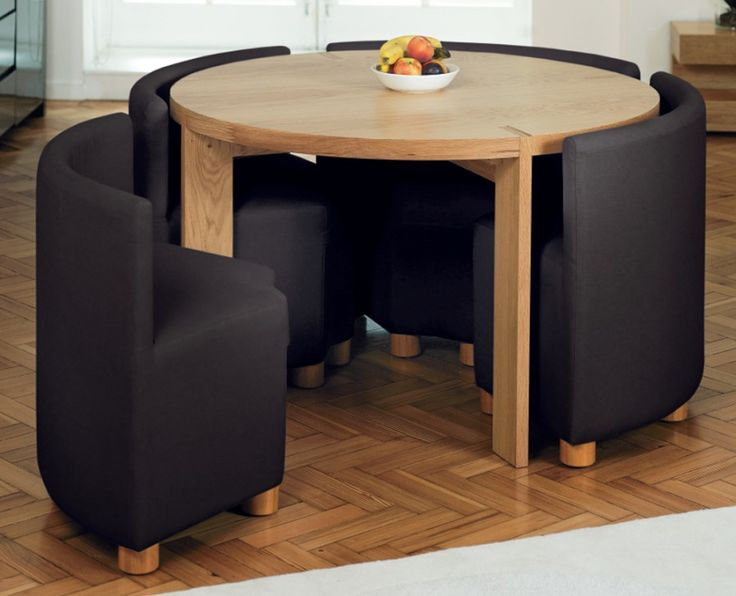 Luxury Cozy Dining Room With Round Small Furniture Used Black Chair Color Used small dining room sets