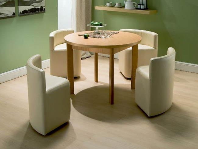 Luxury Creative Space-Saving Furniture Design - Dining Table And Chairs space saving dining table