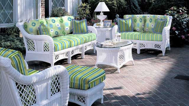 Decoration White Outdoor Patio Furniture Wicker