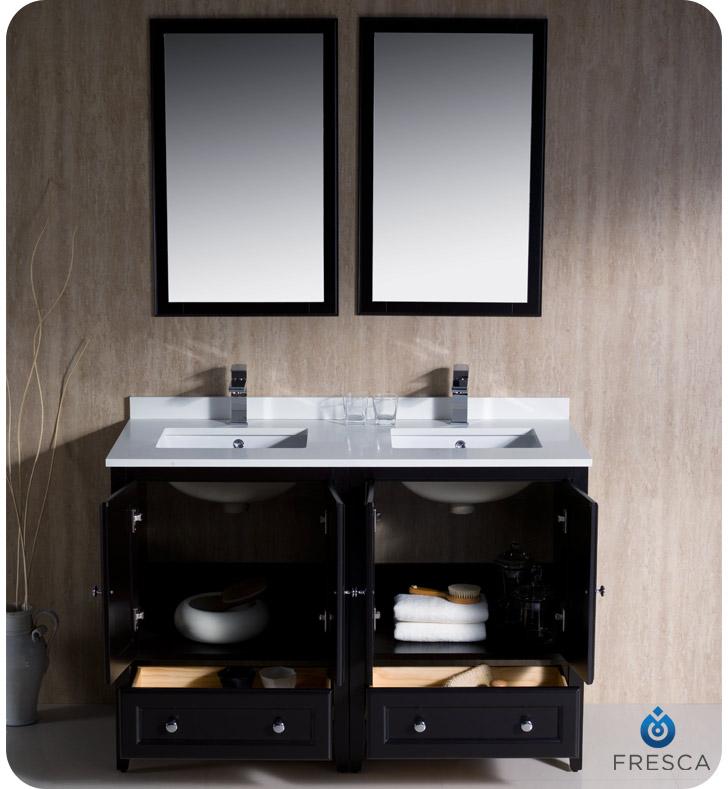Luxury Fresca Oxford 48 48 double sink vanity