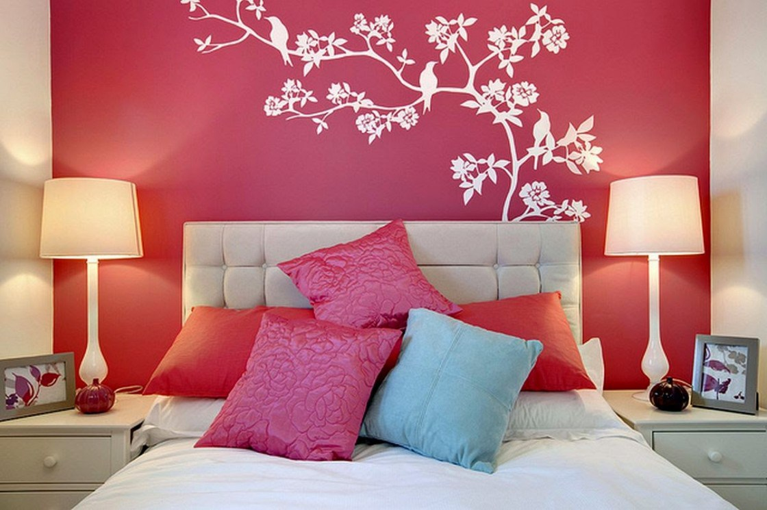 Luxury Gallery of Simple Bedroom Wall Paint Designs. Simple bedroom wall paint  designs simple bedroom wall painting ideas
