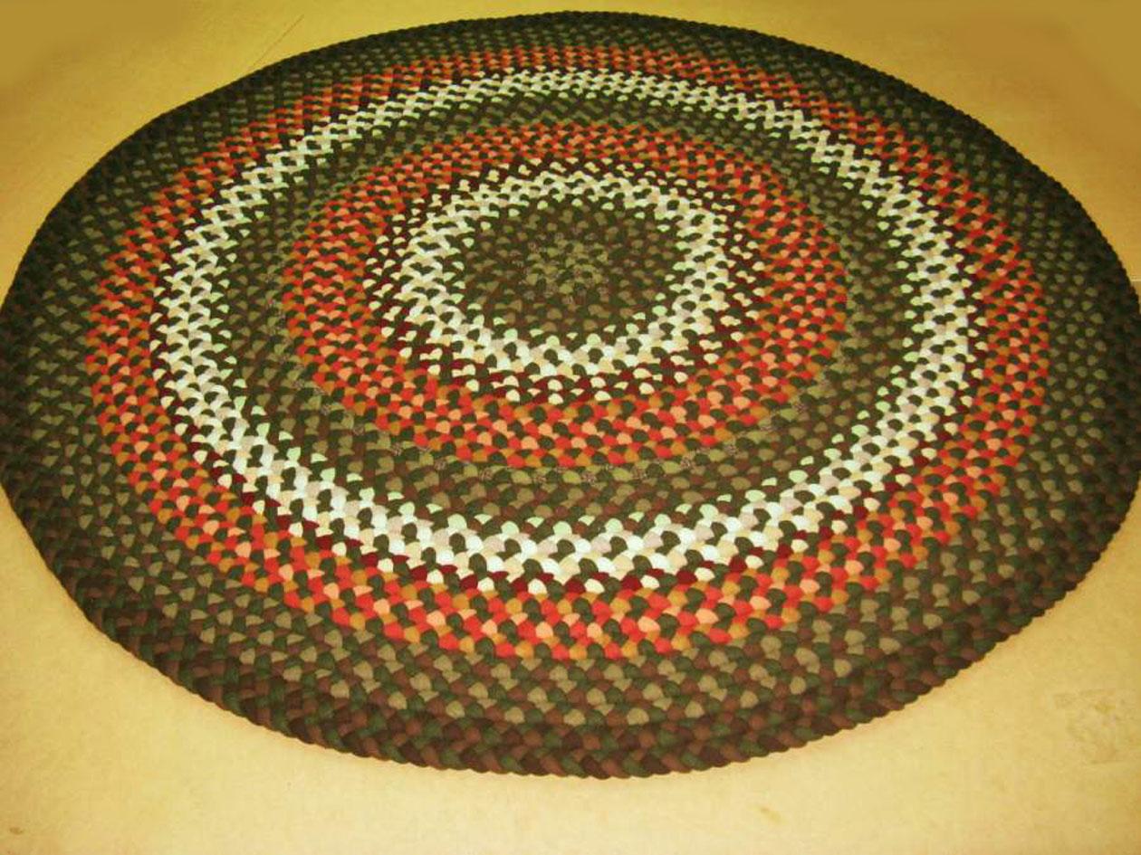 Luxury Handmade Round Braided Rugs round woven rug
