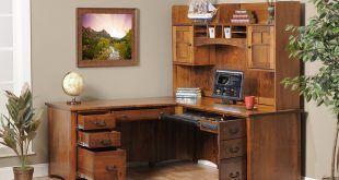 Luxury Image of: Corner Office Desk Wooden corner office desk with storage