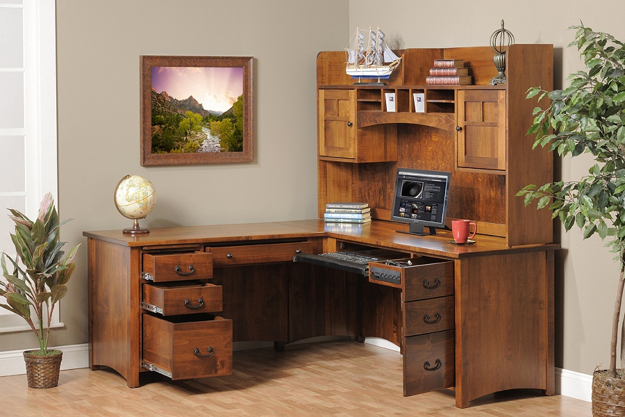 Exceptionnel Luxury Image Of: Corner Office Desk Wooden Corner Office Desk With Storage