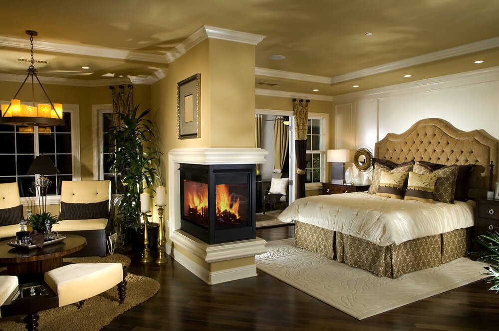 Photos of Beautiful bedroom with fireplace and sitting room luxury master bedroom furniture