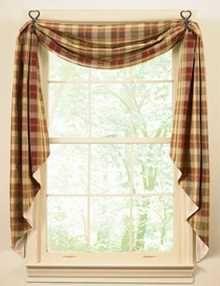 Luxury Primitive Window Treatment Ideas | Country Window Treatments:  European-Style Rustic Window Treatments rustic kitchen curtains