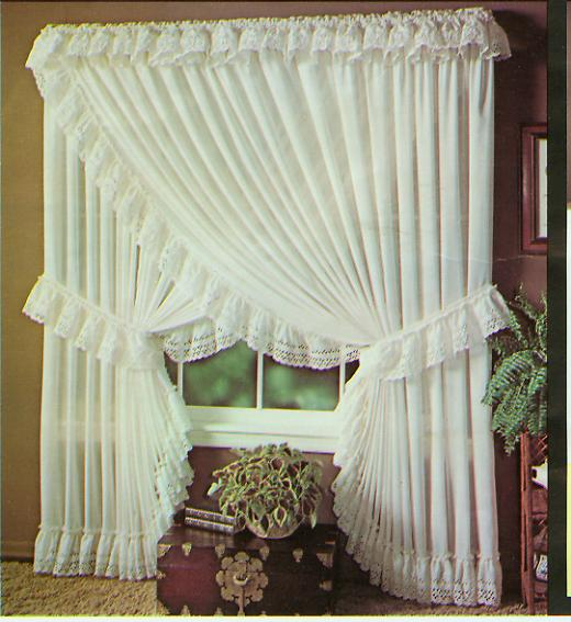 Blend your house modern look with traditional Priscilla Curtains