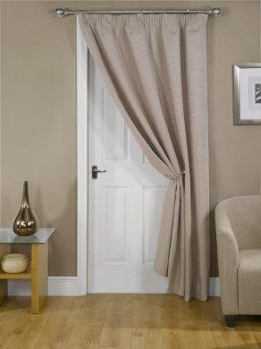 Luxury Thermal Door Curtain Beige thermal front door curtain