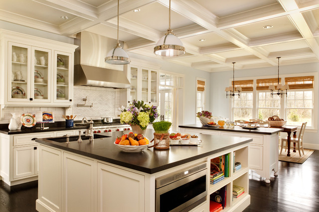 Luxury Traditional Kitchen by Garrison Hullinger Interior Design Inc. kitchen designs with island