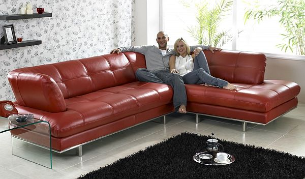 Luxury View in gallery contemporary leather sofa