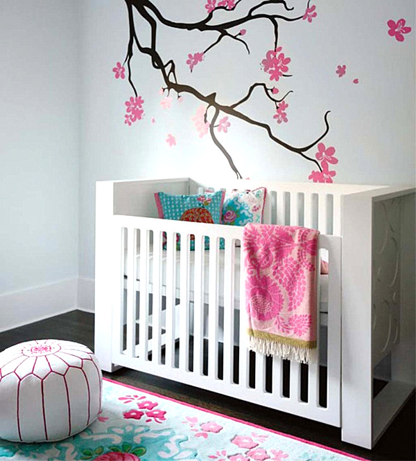 Luxury View In Gallery Nursery Mural 25 Modern Design Ideas Baby Girl Room