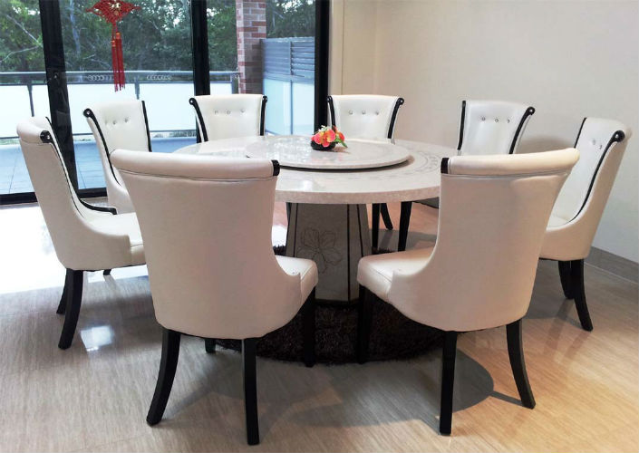 Elegant marble round dining table home inspiration ideas top 5 gorgeous white marble marble round dining table
