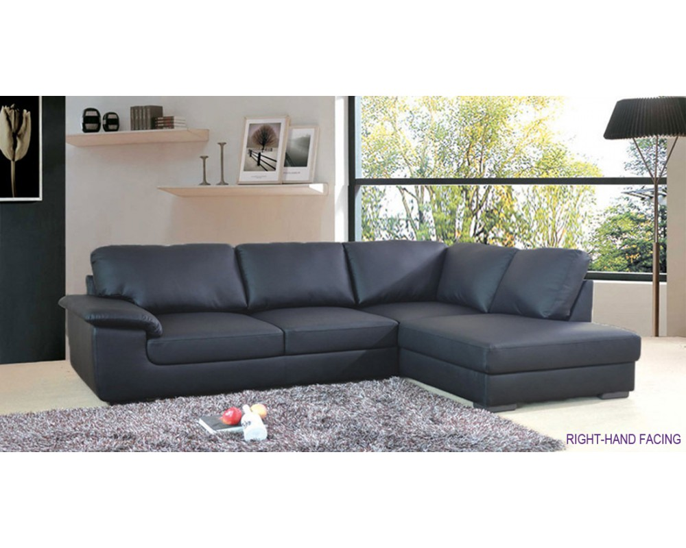 Master Collingwood Black Leather Corner Sofa £500 black leather corner sofa