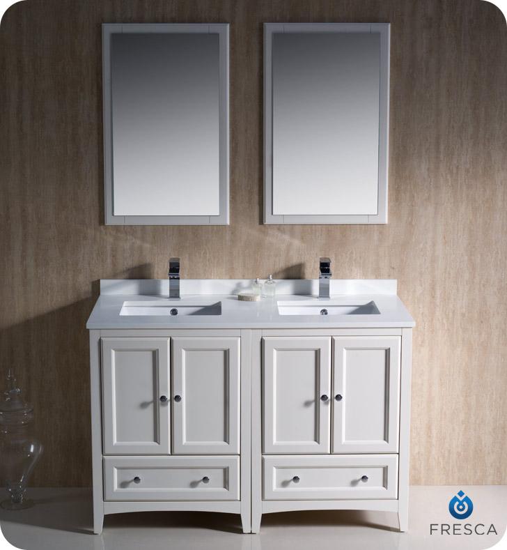 Master Fresca Oxford 48 48 double sink vanity