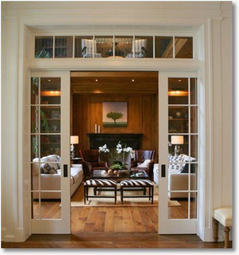 Master glass pocket doors with transom glass pocket doors