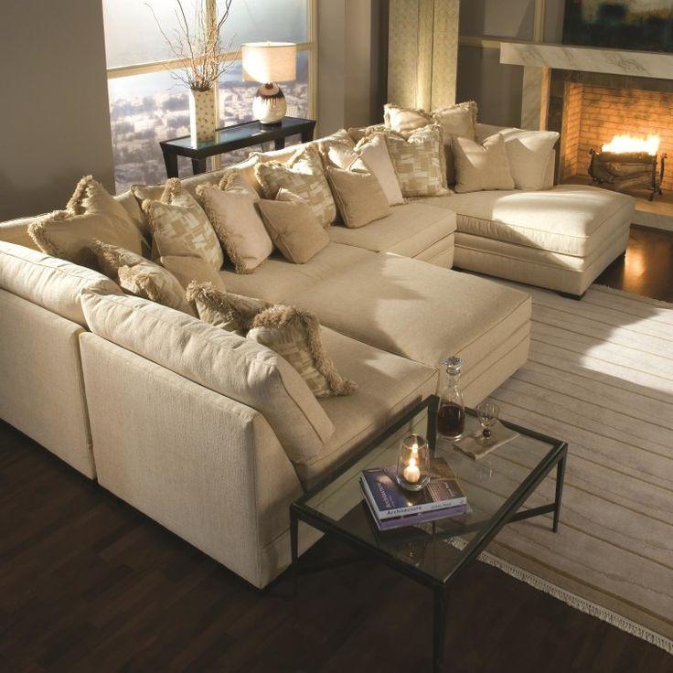Master Huntington House 7100 Godfrey Contemporary U-Shape Sectional Sofa with  Chaise - u shaped sectional sofa with chaise