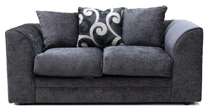 Master Jackson Chenille Grey Fabric 2 Seater ... grey chenille sofa