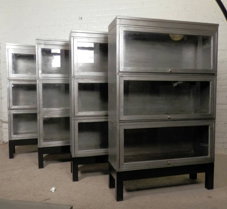 Master Mid-Century Stack Metal Barrister Bookcase (Single Unit) 2 metal barrister bookcase