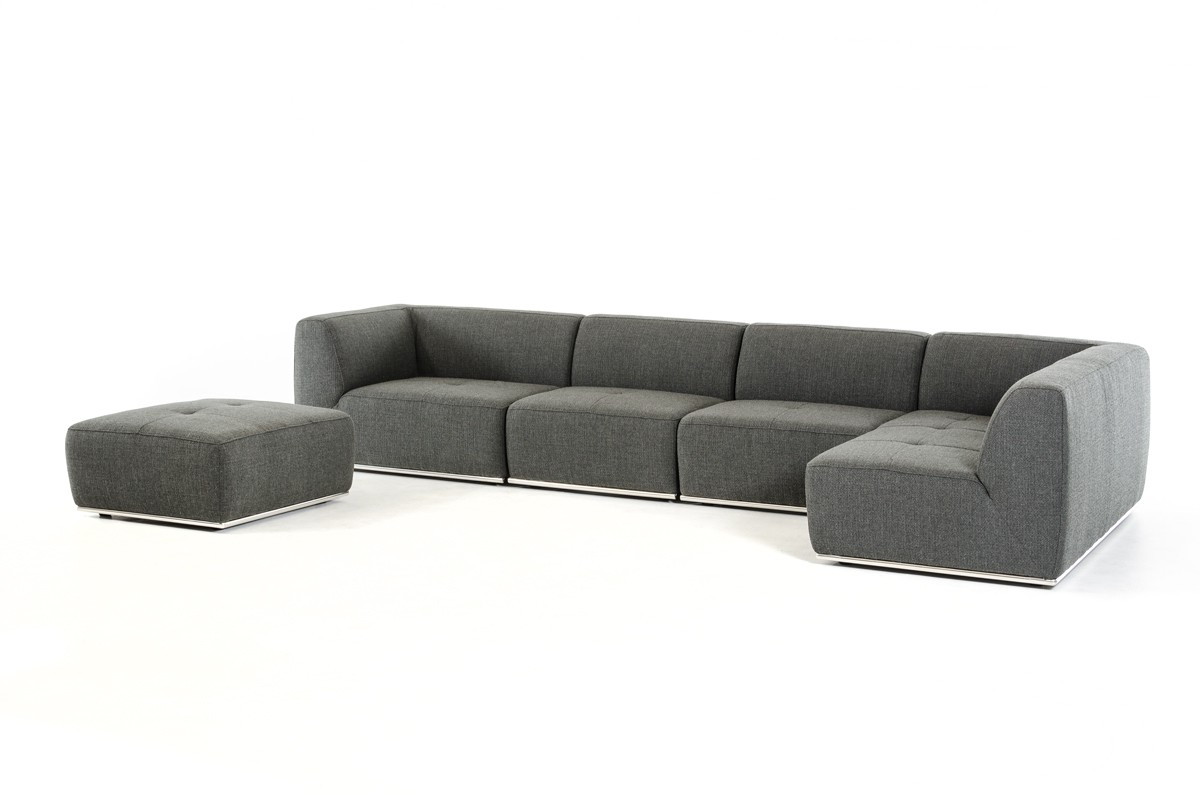 Master ... modern sectional sofa rom furniture cadomodern. more views modern gray sectional sofa