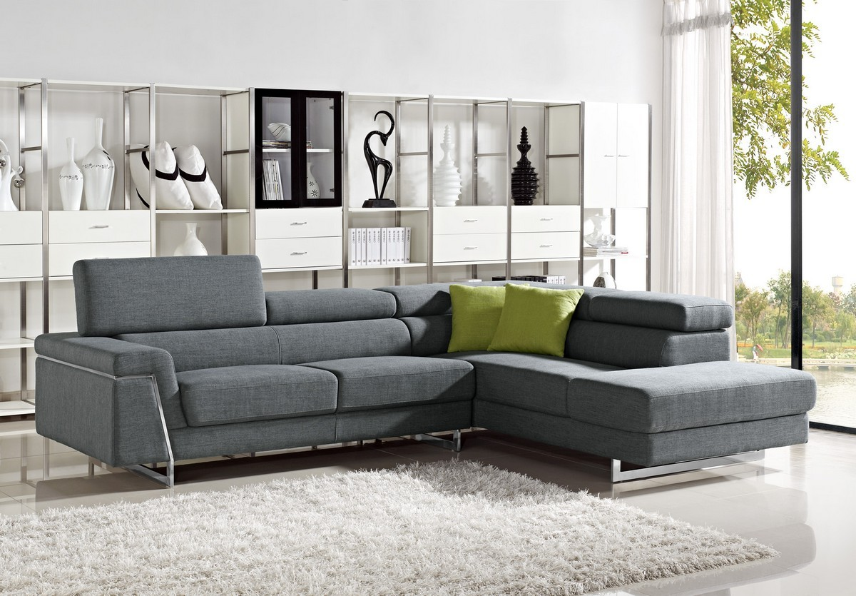 Master More Views modern fabric sectional sofa