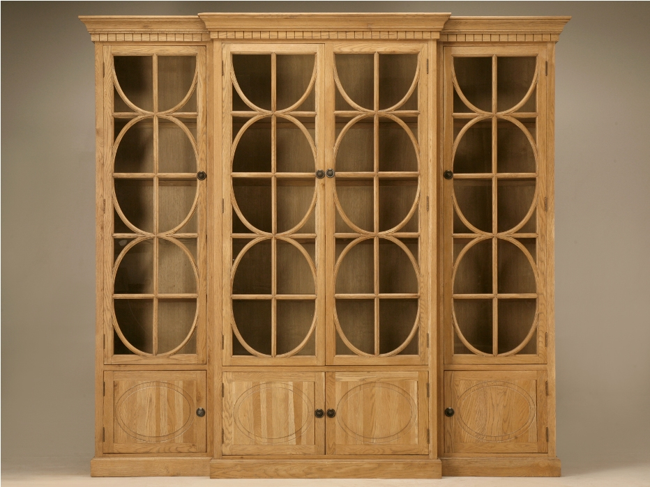 Master Oak bookcases with glass doors oak bookcase with glass doors