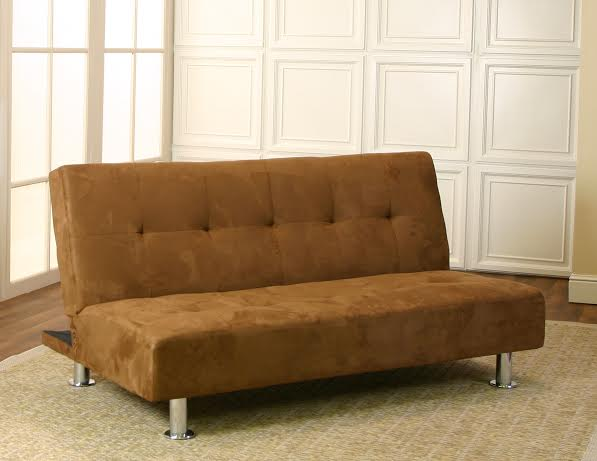 Master Parker Brown Micro Fiber Futon Sofa Bed