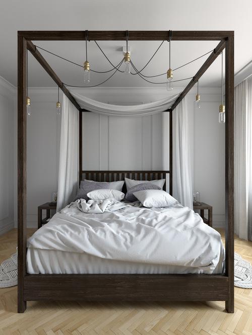 Master SaveEmail dark wood bed frame