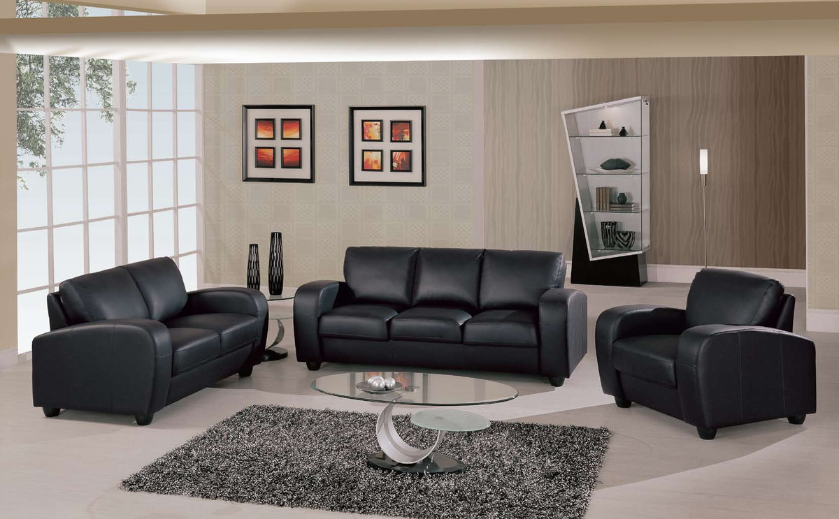 Master ... Terrific Black Leather Furniture Black Leather Sofa Recliner Black  Leather black leather sofa set