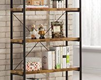 Compact Coaster Home Furnishings Coaster 801542 Bookcase, Barritt Collection metal and wood bookcase